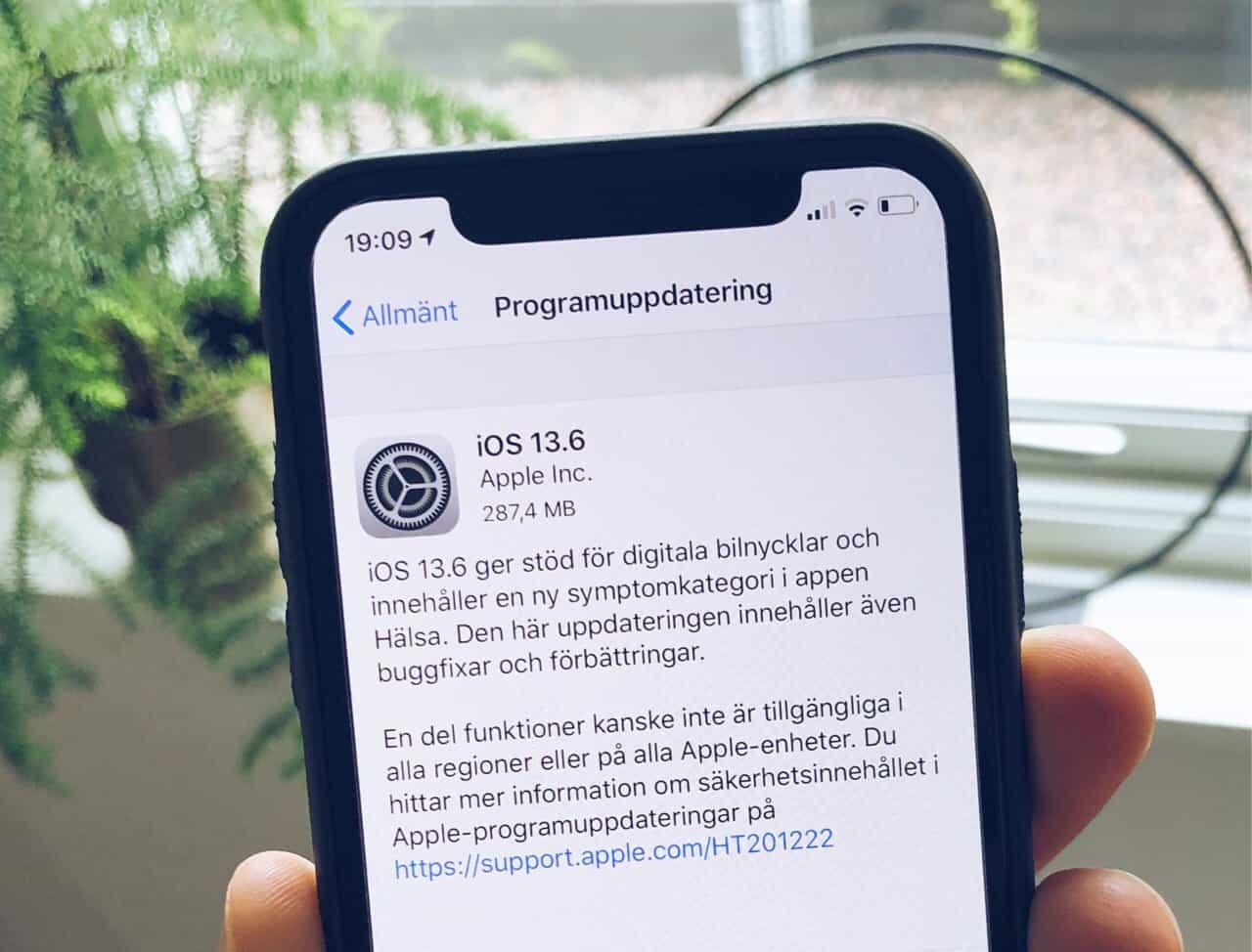 Apple har släppt iOS 13.6