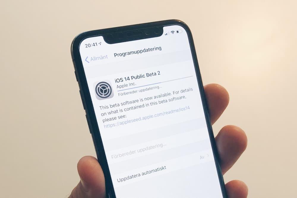 Nu kan alla installera betan av iOS 14
