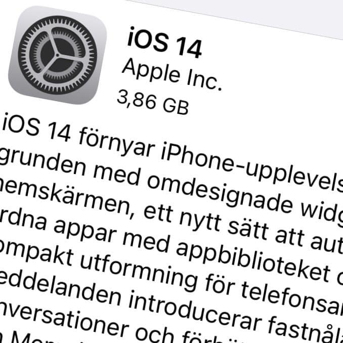 Apple har släppt iOS 14 GM