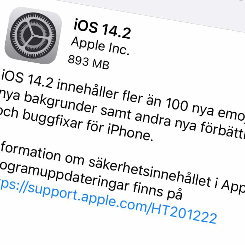 Apple har släppt iOS 14.2