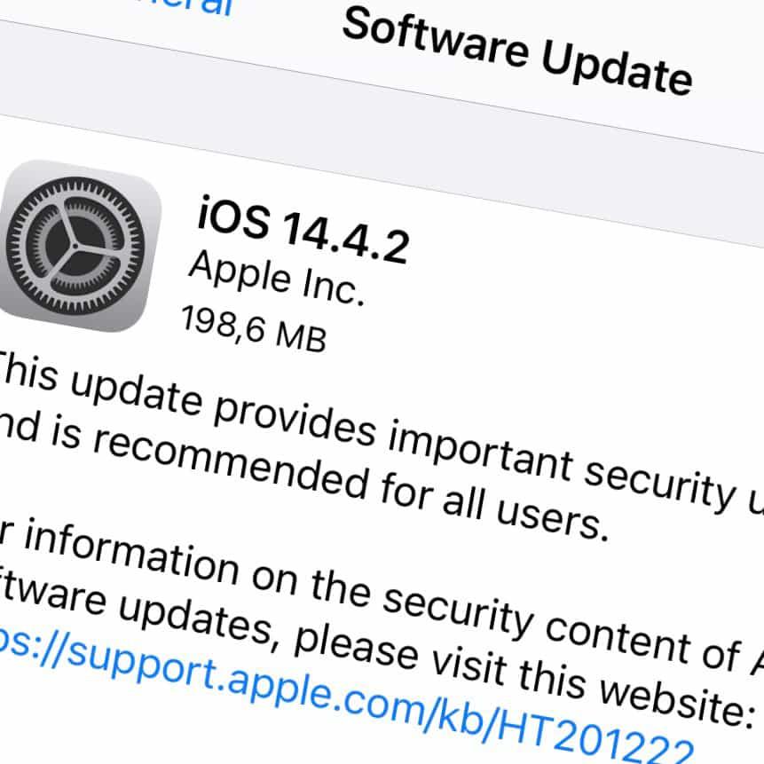 Apple har släppt iOS 14.4.2