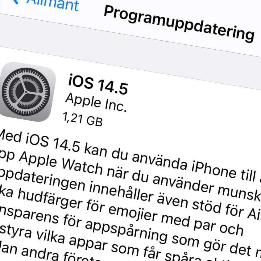 Apple har släppt iOS 14.5