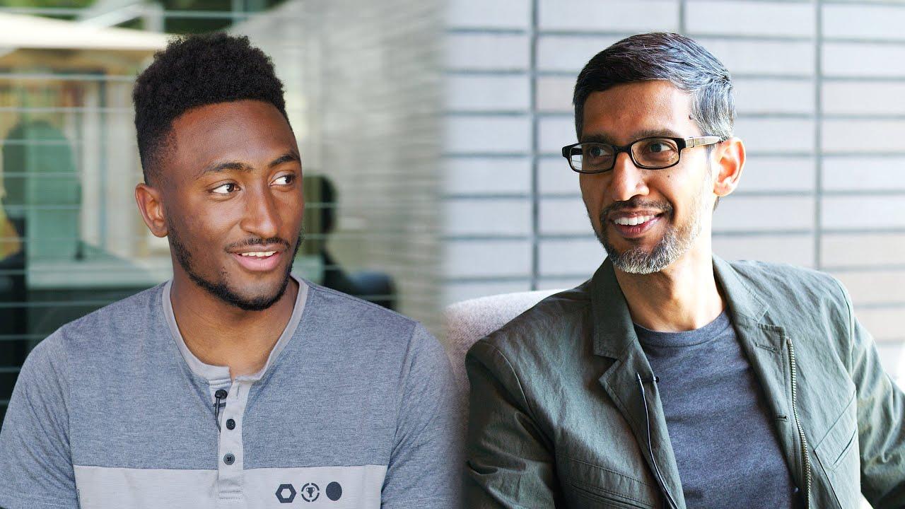 MKBHD pratar Tech och AI med Googles VD