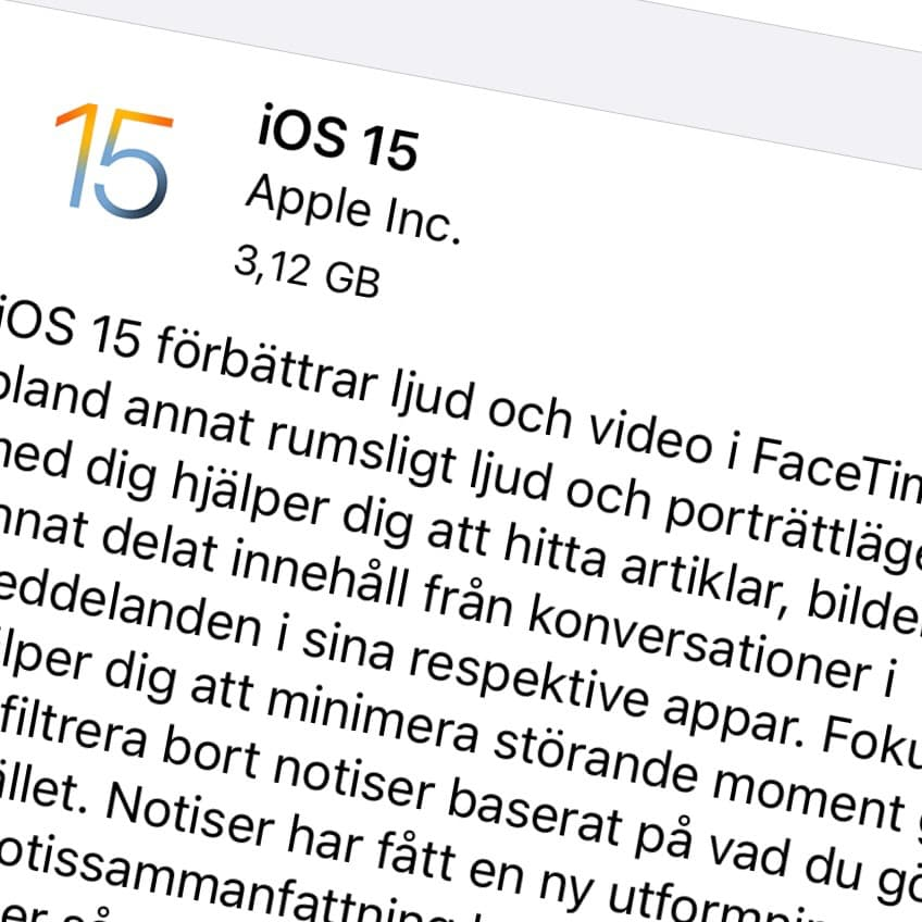 Apple har släppt iOS 15