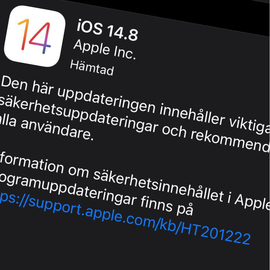 Apple har släppt iOS 14.8